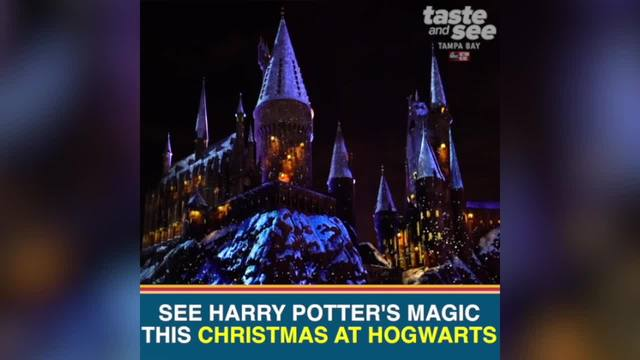 experience the magic of christmas in the wizarding world of harry potter at universal orlando
