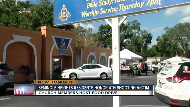 Church members host food drive