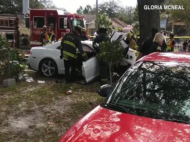 St Petersburg Teens Seriously Hurt After Crashing Stolen Car - Stolen car