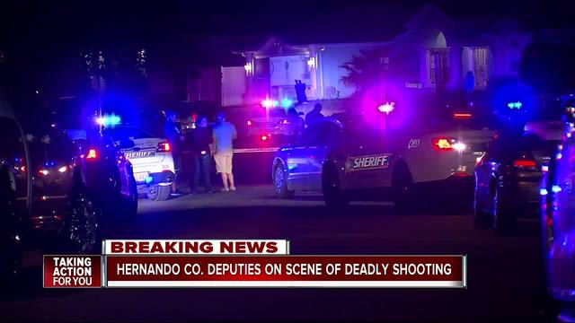 Hernando Co deputies on scene of deadly shooting