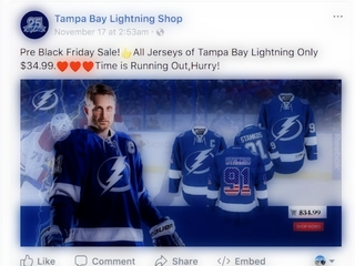 Sponsored Facebook ad may be misleading you