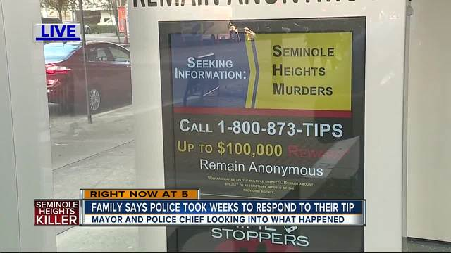 Tampa family claims numerous calls to Seminole Heights tip line not returned