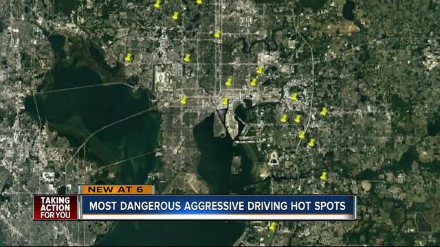 Report uncovers 20 worst places for aggressive driving crashes in…