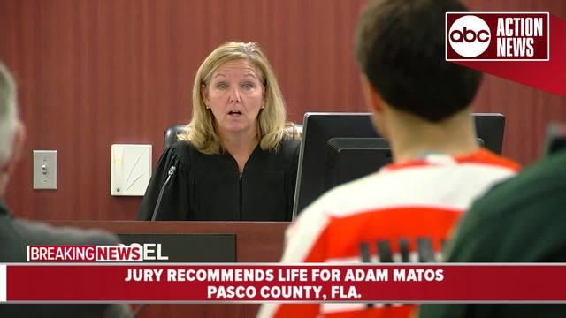 Judge sentences Adam Matos to life in prison