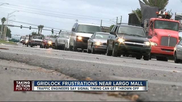 Traffic gridlock near Largo Mall frustrating drivers