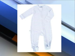 Children's pajama recall