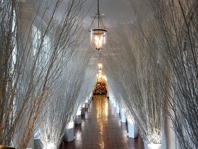 washington dc november 27 christmas decorations in a hallway of the east wing of the white house during a press preview of the 2017 holiday decorations - Christmas Decorations 2017