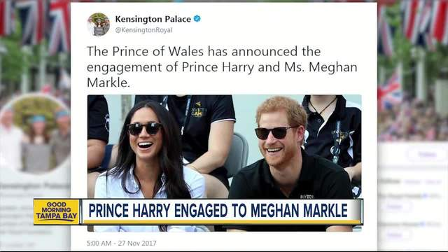 Prince Harry is engaged to American actress Meghan Markle