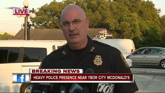 PRESS CONFERENCE - Tampa Police Chief- officers investigate tip at…