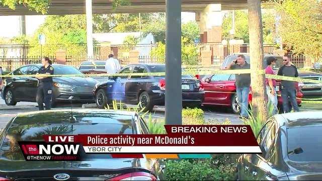Heavy police presence at Ybor City McDonald-s as detectives investigate tip