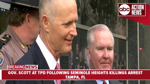 Governor Scott thanks law enforcement after arrest of suspected Seminole…