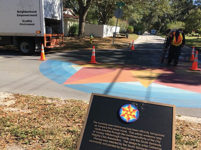 South seminole heights traffic mural accidentally covered for City of tampa mural