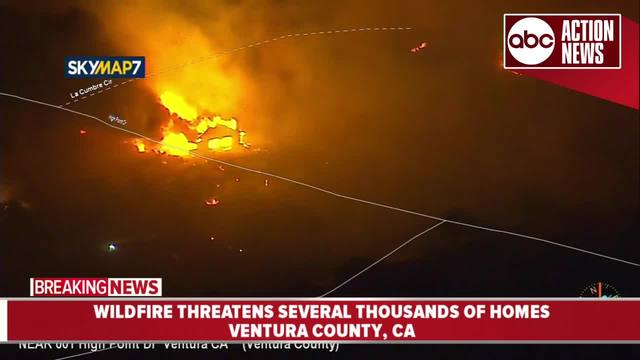 Image result for Wildfire threatens several thousands of homes in Southern California, kills 1