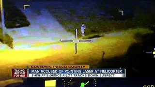Pasco man caught shining laser at helicopter