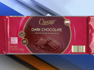 Dark chocolate bars from Aldi recalled