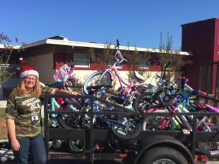 Teacher donates fixed bikes to kids