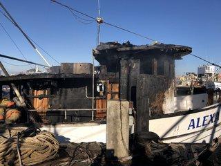 Shrimp boat fire under investigation