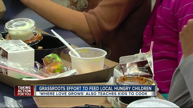 Memorial meal for dad leads to feeding kids