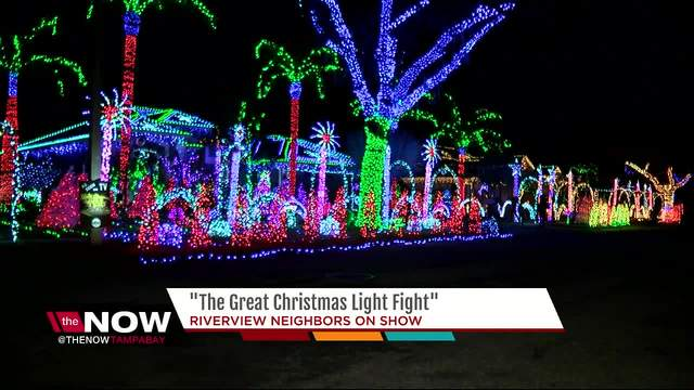 Riverview neighbors to be on -The Great Christmas Light Fight-