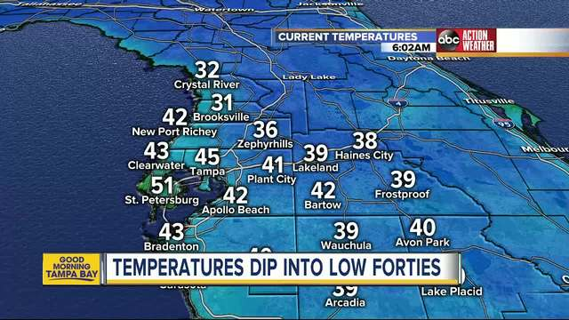 Freezing temperatures hit the Bay Area