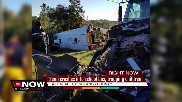 Students airlifted to hospital after bus crash