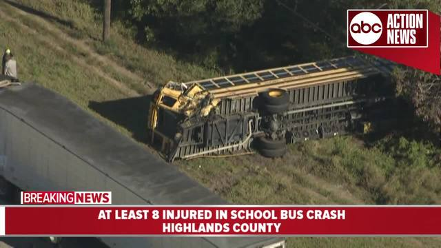 Truck hits school bus in Lake Placid