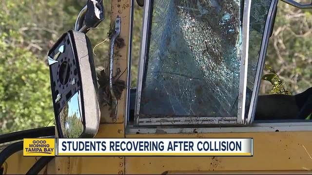 At least 22 taken to hospital in school bus crash involving…