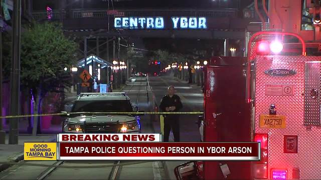 Fire ruled arson at closed business in Ybor City
