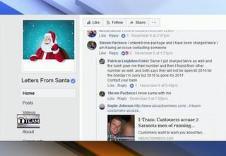Santa letter company on customers naughty list