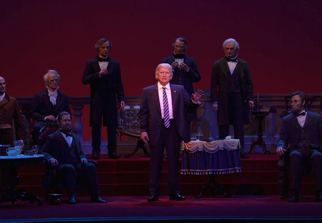Disney adds Trump robot to its Hall of Presidents