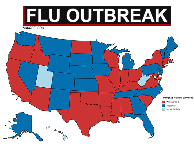 23 states showing widespread flu outbreaks abcactionnewscom WFTSTV