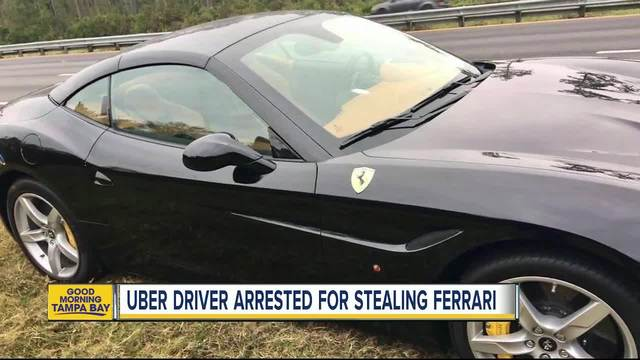 PD: Florida Uber Driver Steals $250K Ferrari, Leaves Dealership Sticker On  The Window   Abcactionnews.com WFTS TV