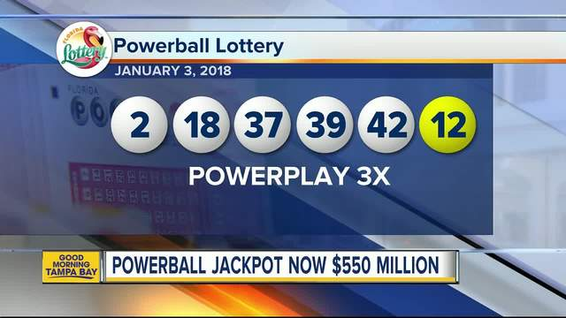 Still no winners in Powerball as jackpot increases to $550 million