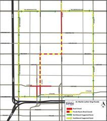 MLK Day Parade road closures