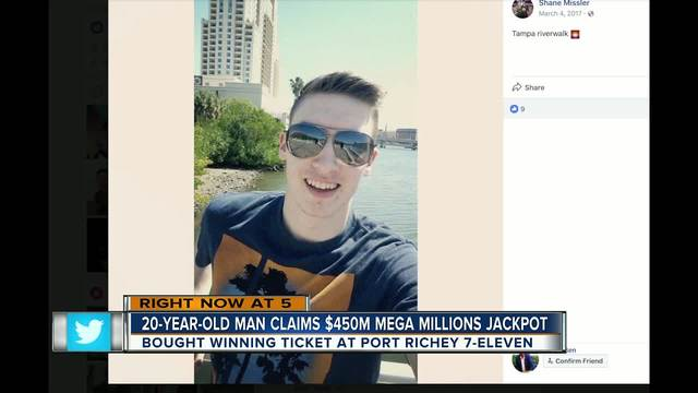 20-year-old Port Richey man claims $450 million MEGA MILLIONS jackpot