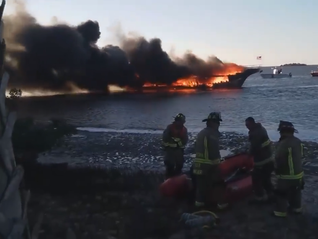 Florida casino boat catches fire with 50 passengers on board