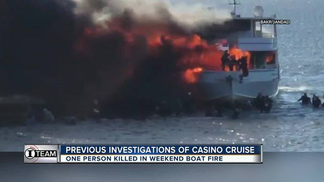 One dead after Florida casino boat erupts in flames