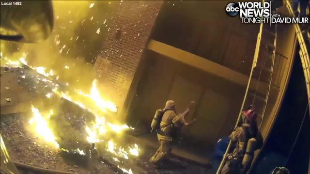Georgia firefighter caught on video catching child from apartment blaze