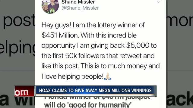 Scammer creates Twitter account posing as Florida lottery victor