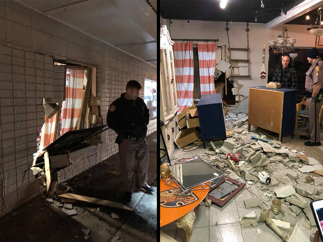 Shop owner says truck rammed into business