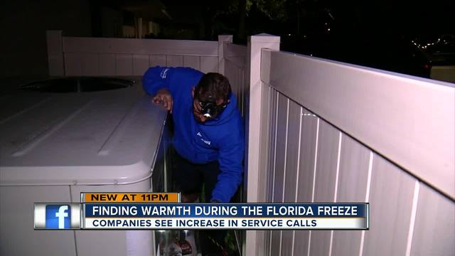 Technicians working to make sure homes stay warm during Tampa Bay-s cold snap