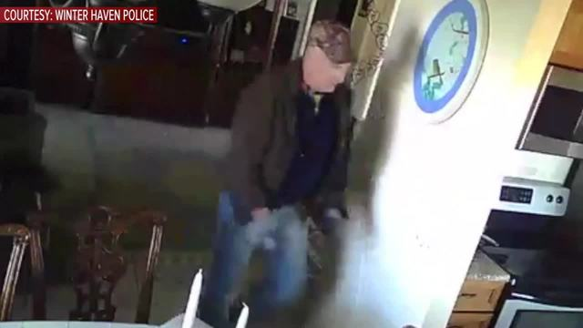 Police- Burglary suspect took hinges off door- broke into elderly…