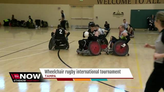 Wheelchair Rugby tournament taking place in Tampa