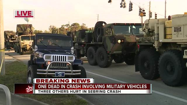 National Guard soldier killed, four others injured in military vehicle crash