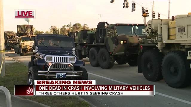 1 killed, 5 hurt when Florida National Guard vehicles crash