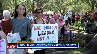 Large crowd expected at Women's March St. Pete