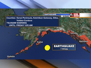 Magnitude 7.9 earthquake strikes Alaska