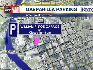 Public parking options for Gasparilla