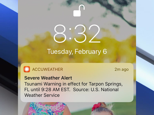 Tsunami Warning mistakenly sent to phones