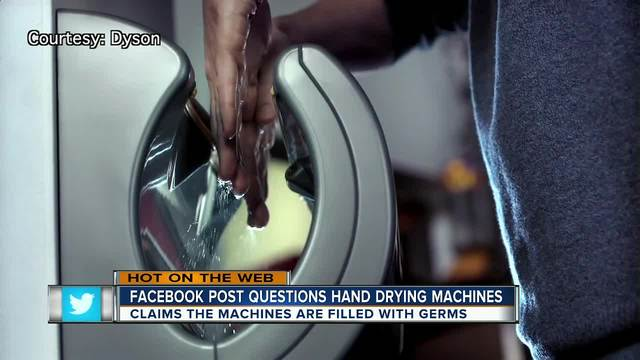 Bathroom Hand Dryer Bacteria Gross-Out Goes Viral on Facebook